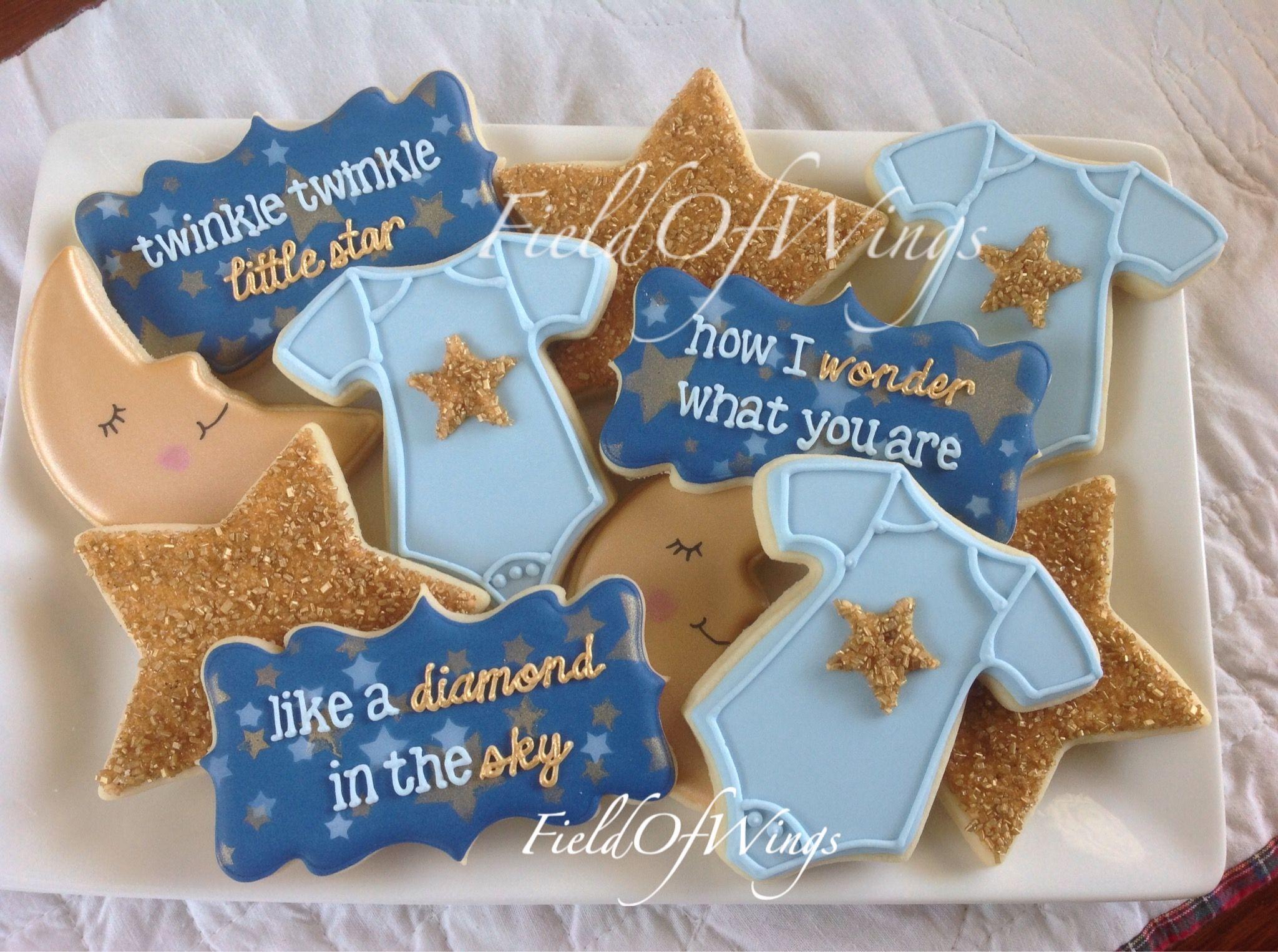 Baby Boy Sugar Cookies Twinkle Twinkle Little Star Fieldofwings
