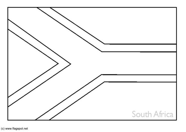 South Africa Flag Outline South African Flag South Africa Flag Africa Flag
