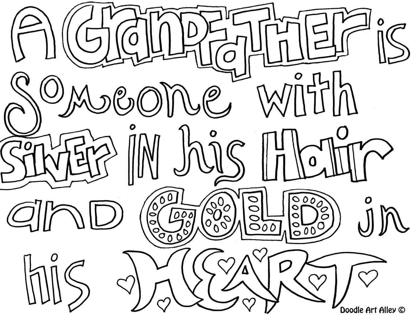grandfather  quote coloring pages