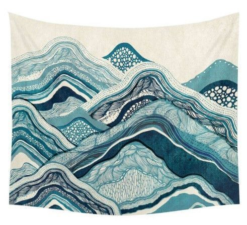 Wave Tapestry Wall Art Home Tapestry Bedroom Tapestry