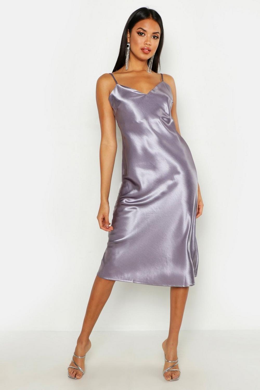 adf78a37a6d5d Satin Slip Midi Dress in 2019   Lingerie & more stuff!!!   Satin ...