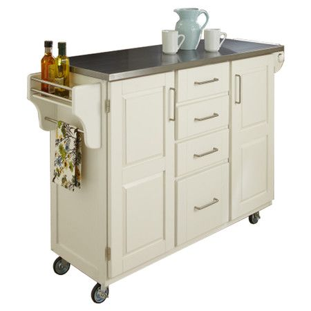 Wood Kitchen Cart With Four Drawers And A Stainless Steel Top Product Kitchen Cartconstruction