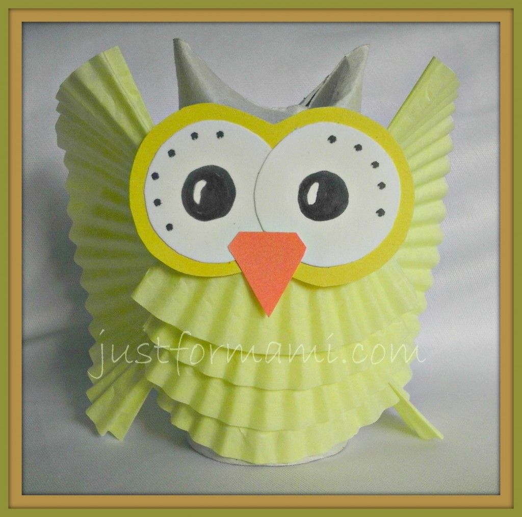 Manualidades bho de papel de cupcake mary pinterest explore owl crafts kids crafts and more jeuxipadfo Image collections