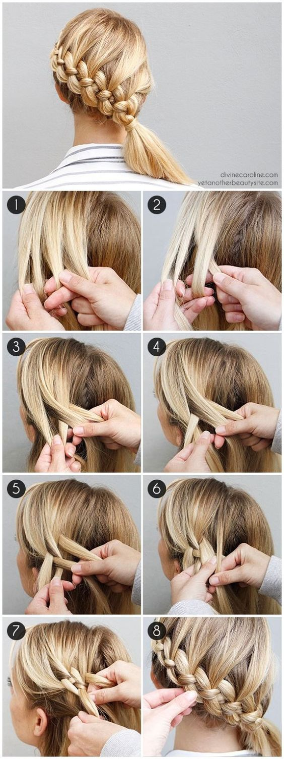 Try this the fourstrand braid made easyish best long hairstyles