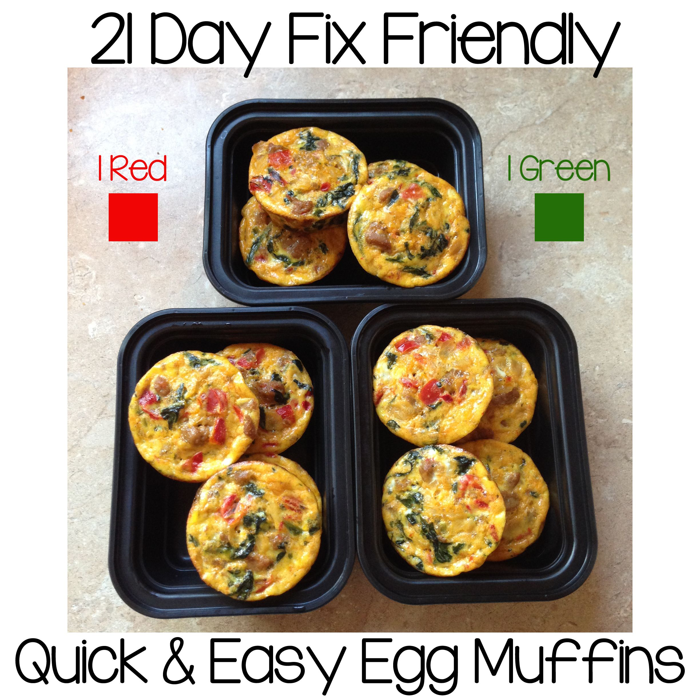 Quick And Easy Egg Muffins Recipe Red Green Egg