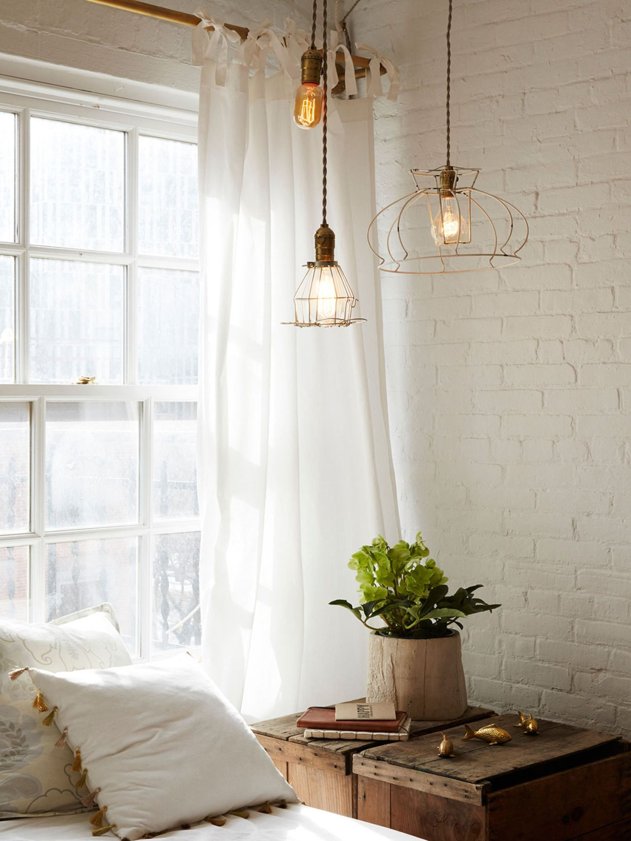 A Fine Romance Brick Interior Brick Wall Bedroom Painted Brick Walls