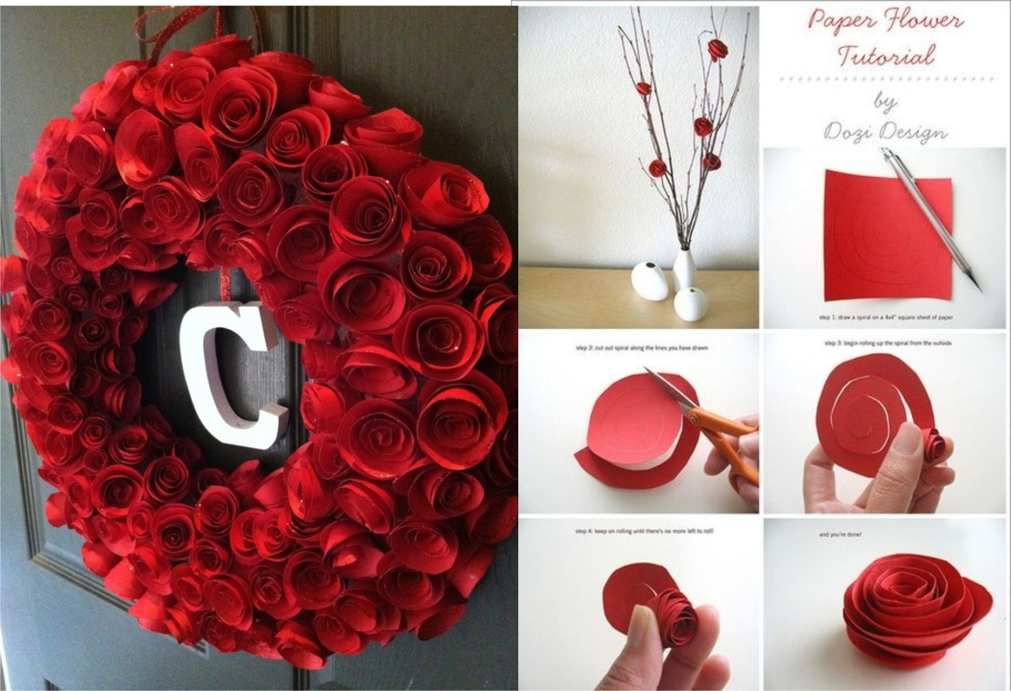 Famous paper flower tutorial by dozi design sketch wedding and two different postingsme technique good idearrr pinterest mightylinksfo