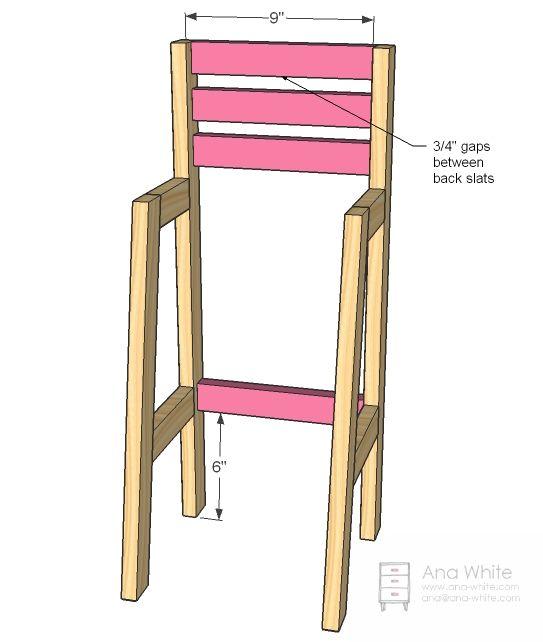Doll High Chair | Doll high chair, Diy chair, Wooden high ...