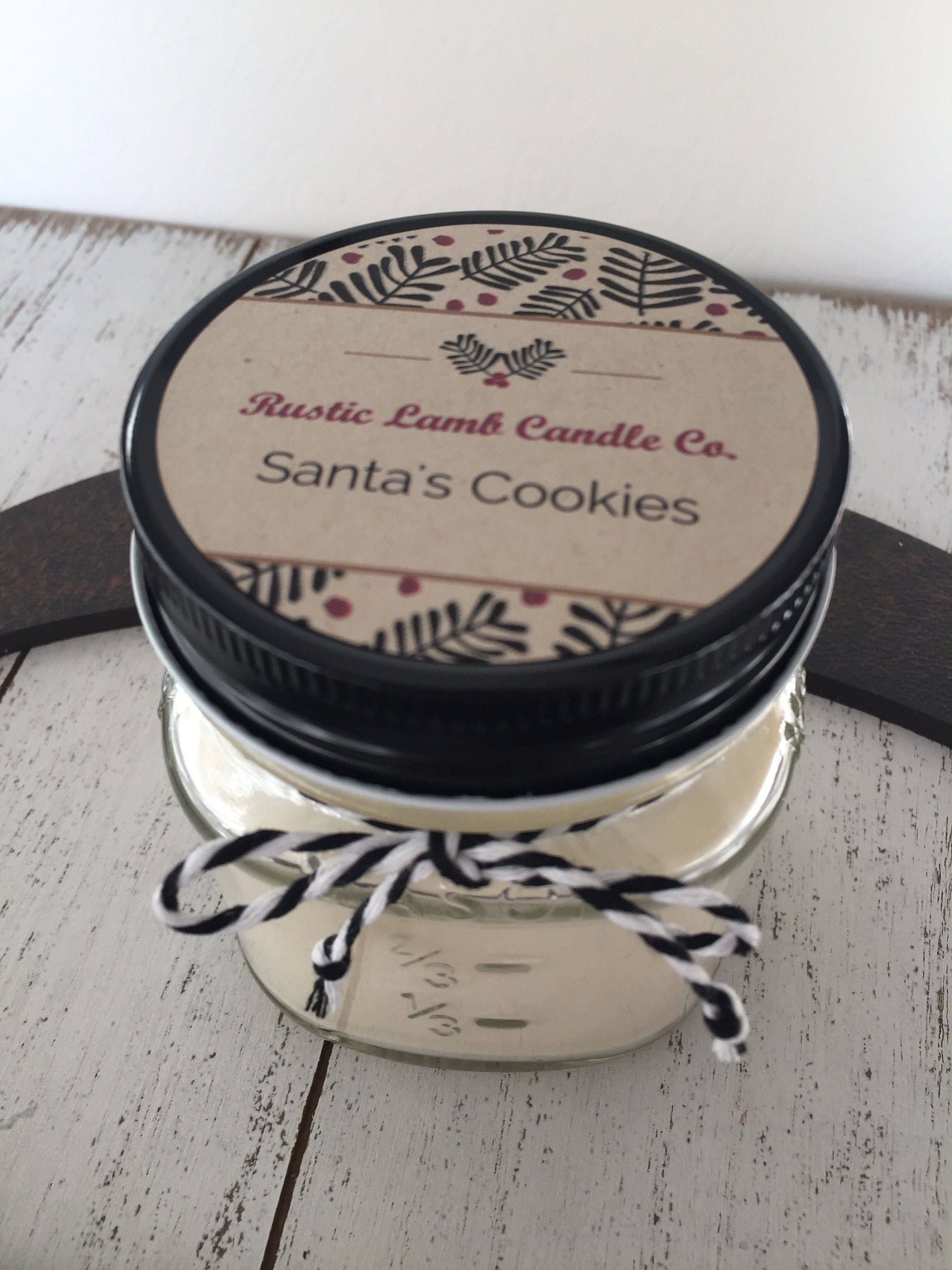 Santa S Cookies Sugar Cookie Scent Hand Poured Soy Candle Christmas Gift Holiday Scent Christmas Candles Santa Cookies Christmas Scents