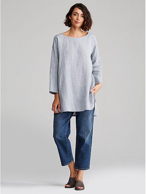 Organic Cotton Straight Cropped Jean - EILEEN FISHER | Eileen ...