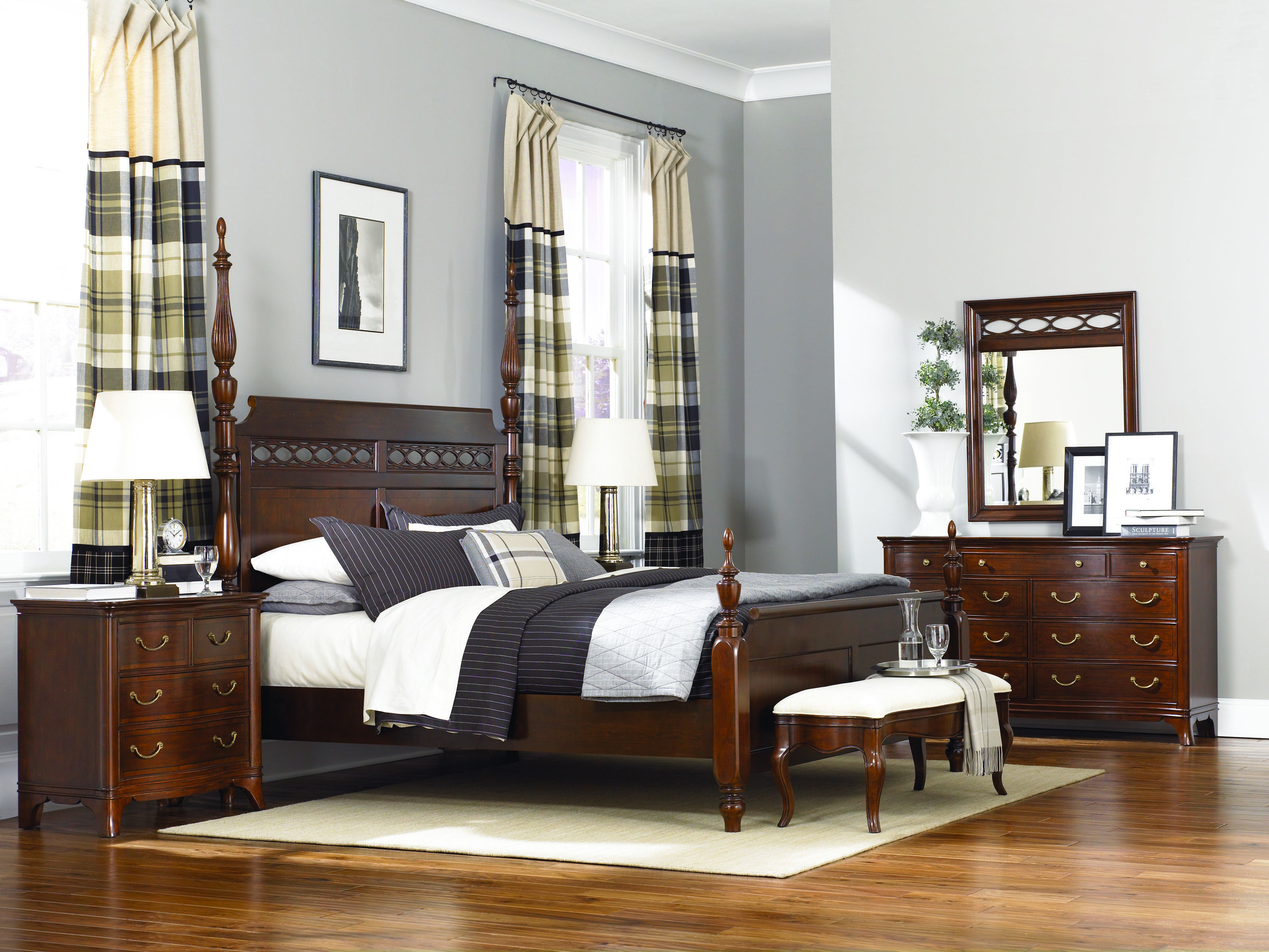 eclipse bedroom bed lynnwood collection furniture cherry tree with