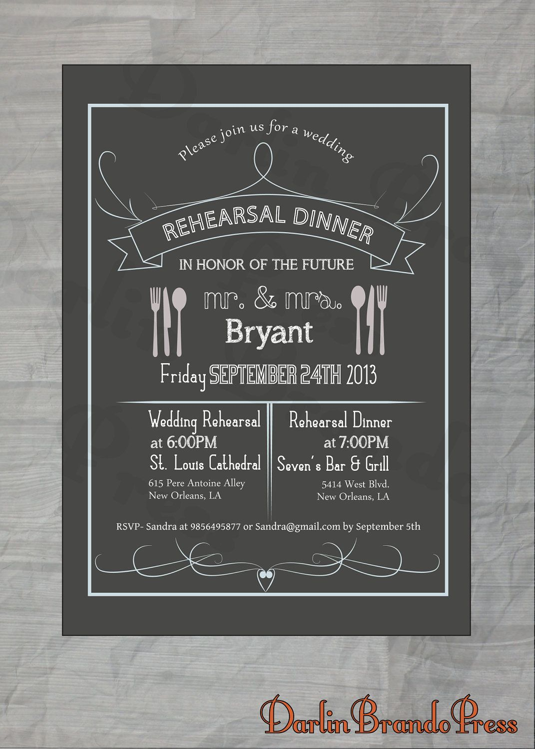 Rehearsal dinner invite wordinglayout wedding ideasplans rehearsal dinner invite wordinglayout stopboris Image collections