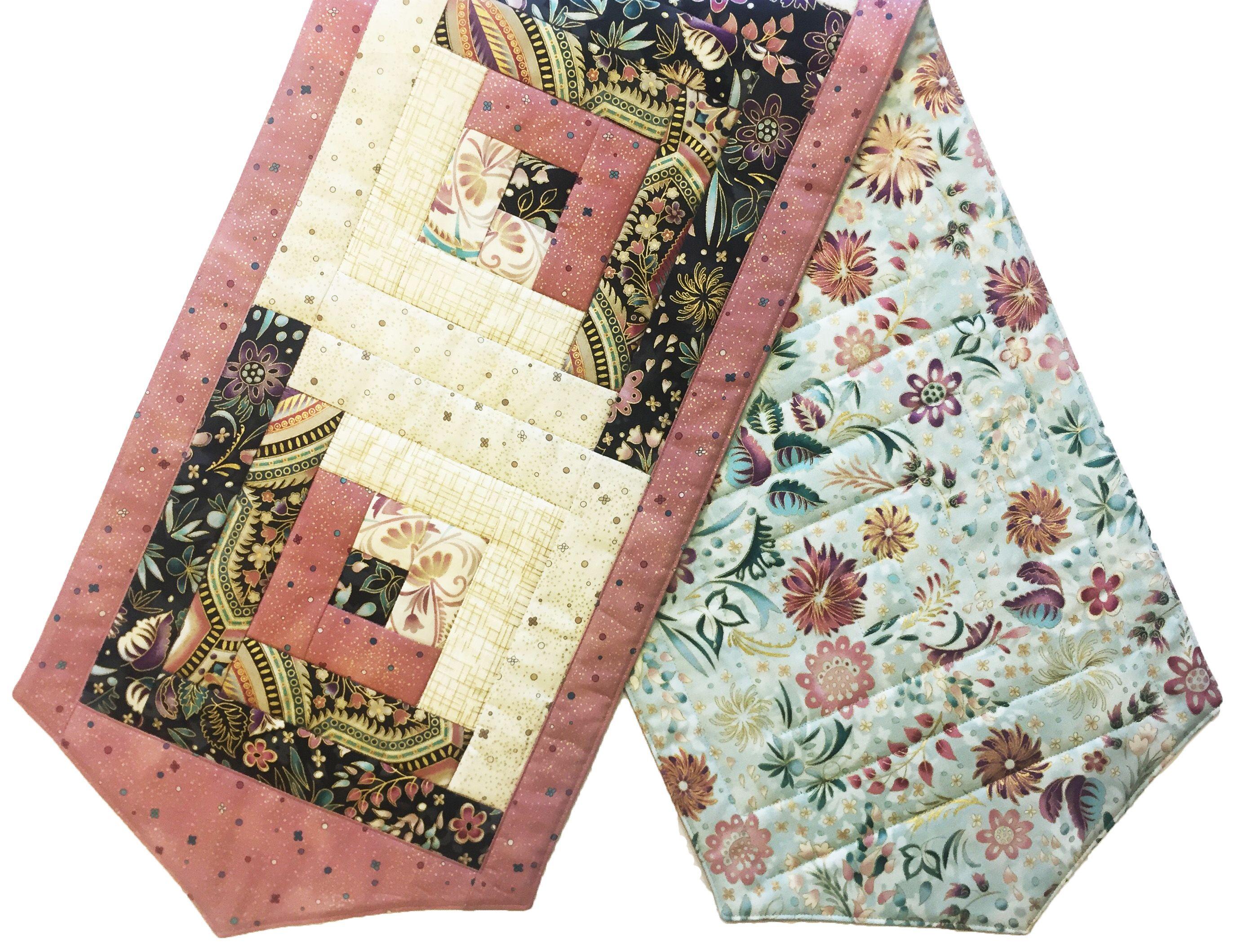 Blushing Table Runner from Jordan Fabrics, made using a pre-cut ... : patchwork quilt kits pre cut - Adamdwight.com