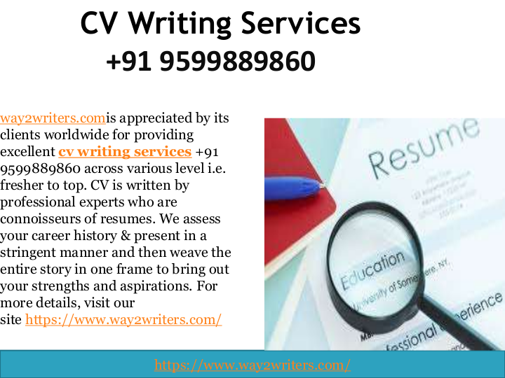 is a unique cv writing company in India