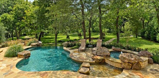 Fotos de piscinas piscinas casas de campo vero de todo for Jardines minimalistas con piscina