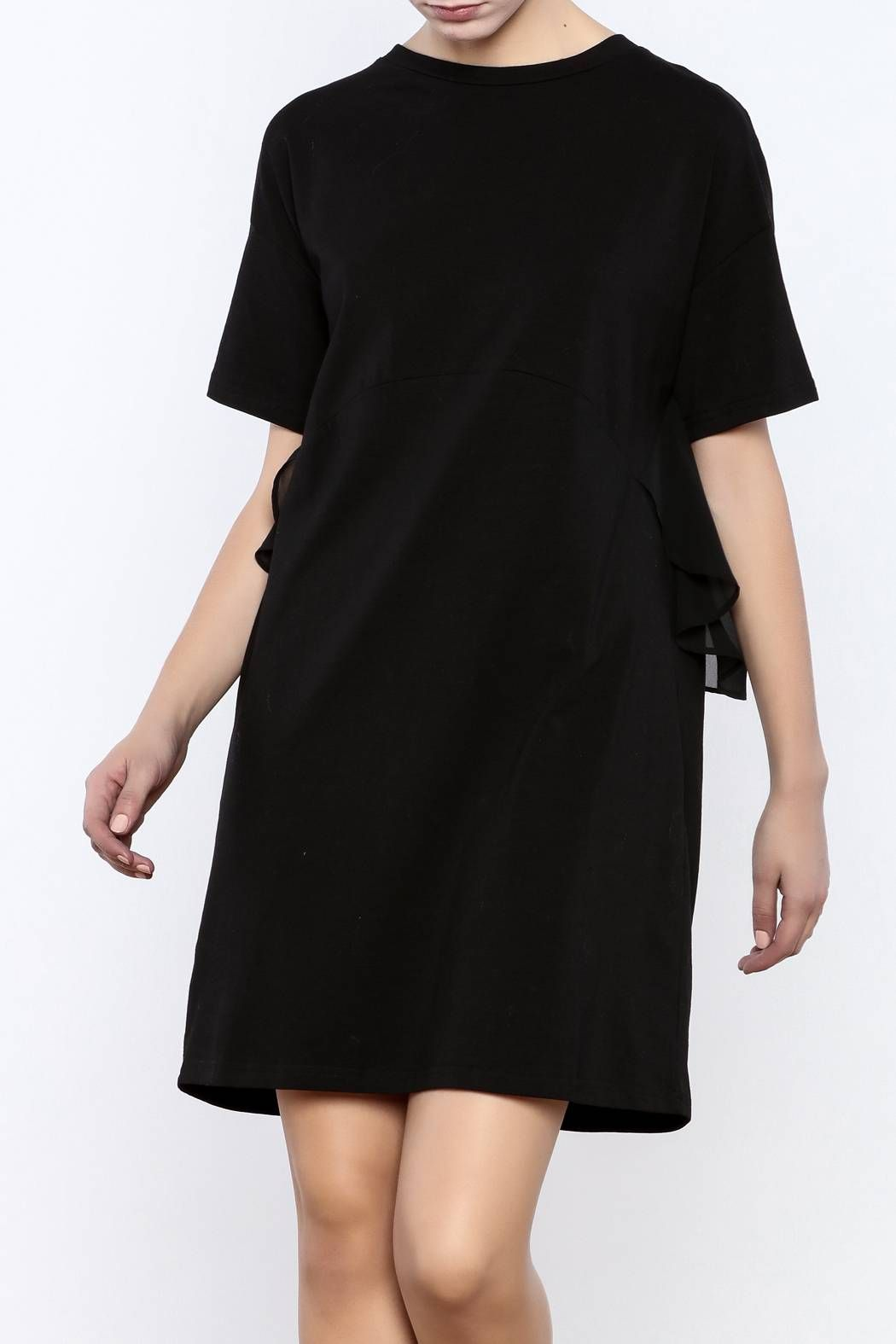 A shappe black ruffled dress shorts products and clothing