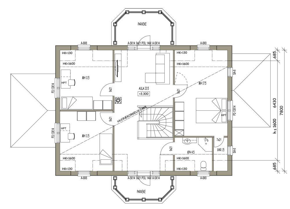 Husmodeller | Arkitektmodeller | Mansard hus | L-14152 / 162 m²