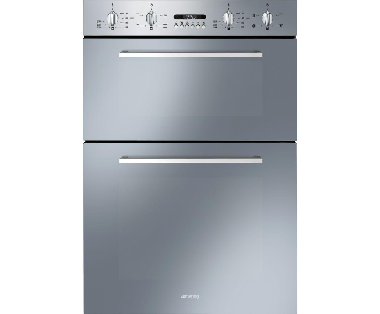 Smeg Cucina Built-In Electric Double Oven | DOSF44X | ao.com | new ...
