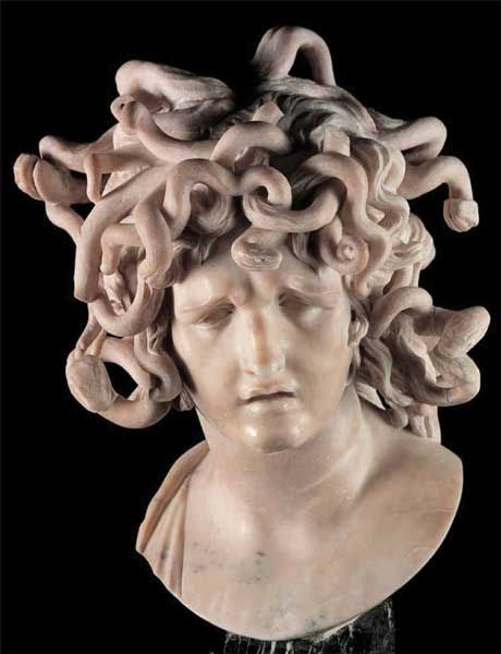 gian lorenzo bernini bust of medusa sculpture  gian lorenzo bernini 1598 1680 bust of medusa sculpture 1644 1648 marble