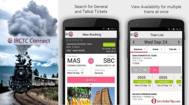 Book Railway Tickets Using Irctc Connect Android App Online Tickets Android Apps Connection