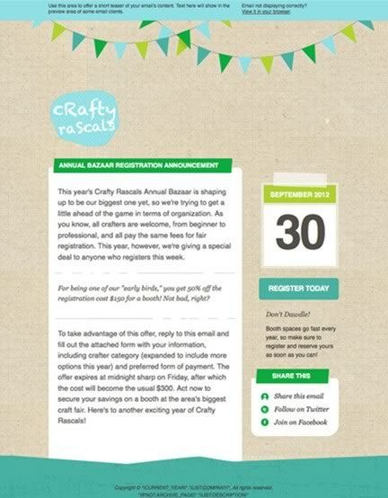 Example Predsigned Template 14 of 16 | mailchimp | Web Design ...