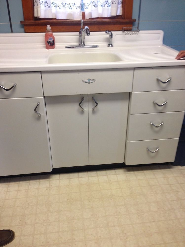 Vintage Youngstown Kitchen By Mullins Metal Sink Cabinet With