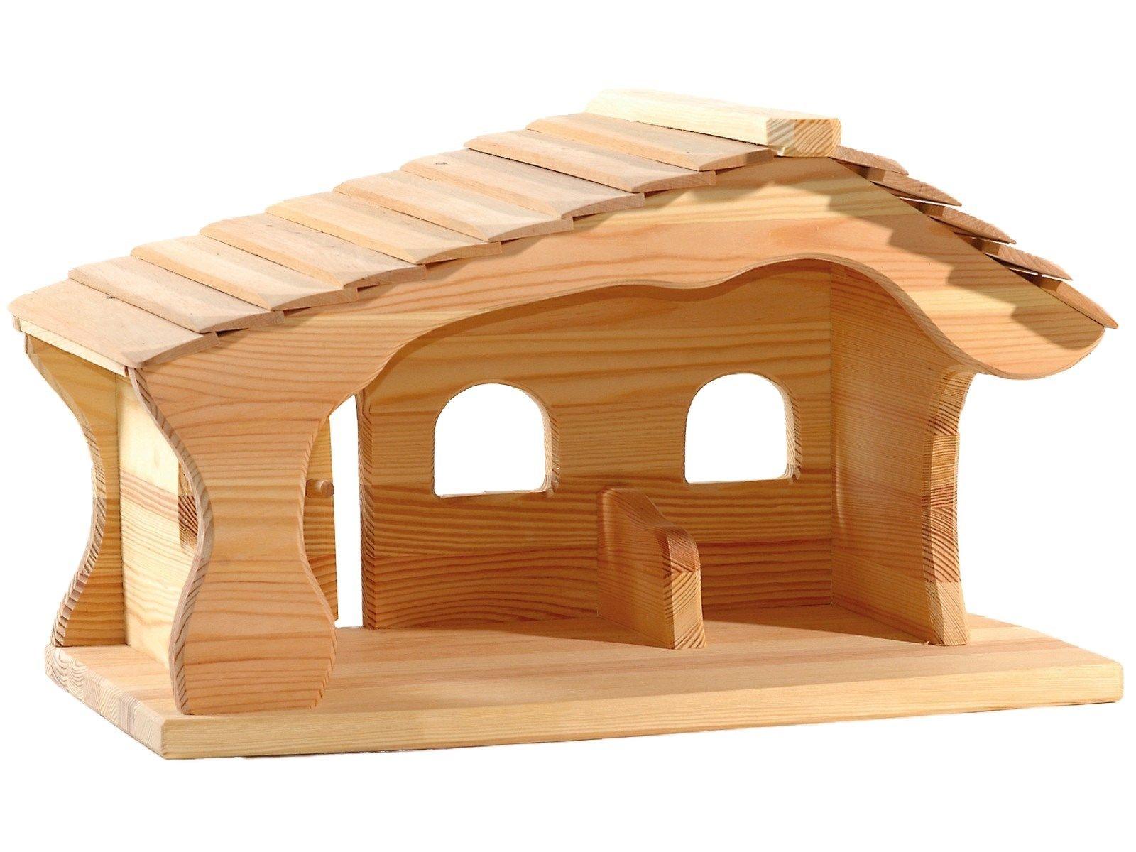 ostheimer weihnachtskrippe krippenstall aus massivholz bio ge lt ma e 47 x 30 x 30 cm. Black Bedroom Furniture Sets. Home Design Ideas