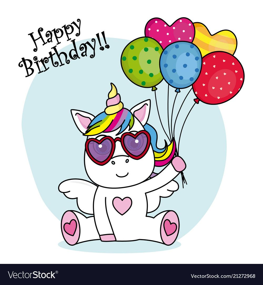 Cute Unicorn With Sunglasses And Balloons For Birthday Party Download A Free Preview Or High Quality Unicorn Wallpaper Cute Cute Unicorn Unicorn Quotes Funny Happy birthday unicorn wallpaper