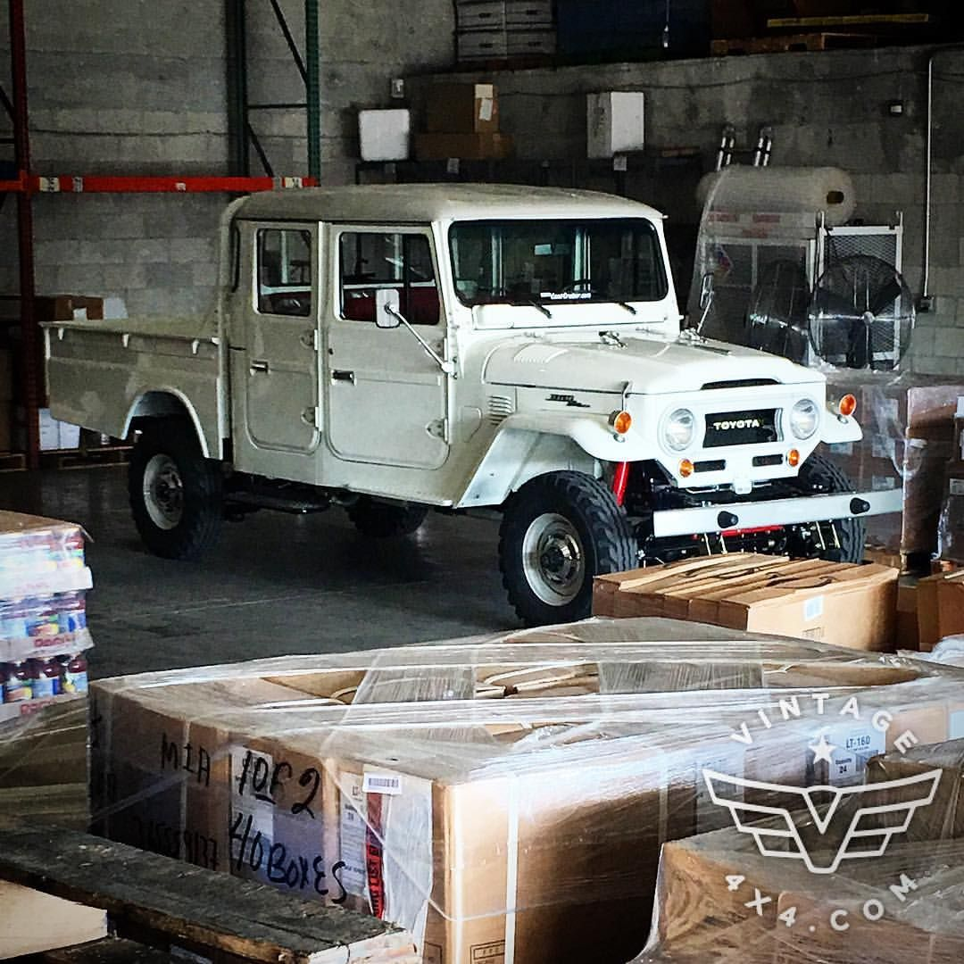 """Let Us Build Yours! . Project Code Name """"Lilian"""" has Arrived at Our Warehouse in Miami and Ready for Delivery! . Follow this build at #vintage4x4Lilian . #fj40 #ih8mud #bj40 #fj25 #fj45 #fj47 #hj45 #hj47 #vintage #4x4 #fjrestoration #vintagecruisers..."""