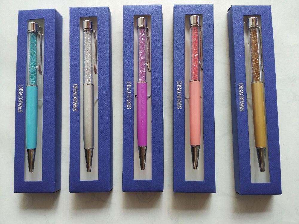 682552930443 Roller ball Kryształ Swarovski Pióra z prezent Pen box Swarovski elements  Kryształ Długopis biuro Prezent ślubny