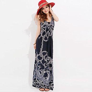 Modelos de vestidos largos casuales para damas