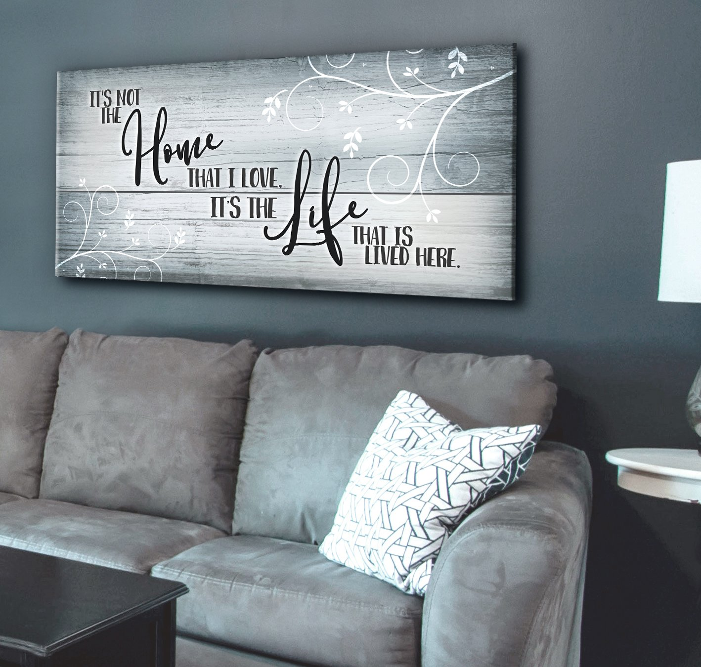 Photo of Home Wall Art: It's Not The Home That I Love (Wood Frame Ready To Hang)