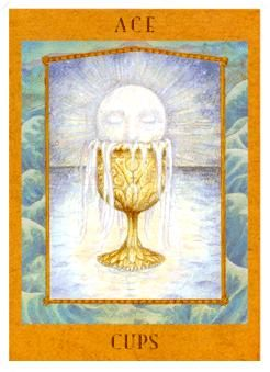 August 7 Tarot Card: Ace of Cups (Goddess deck) Embrace the idea of a new and different feeling now. Something fresh will inspire … | Tarot ...