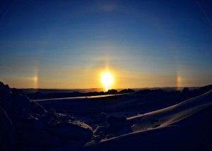 Ice crystal hal seen from Canada's Northwest Territories.