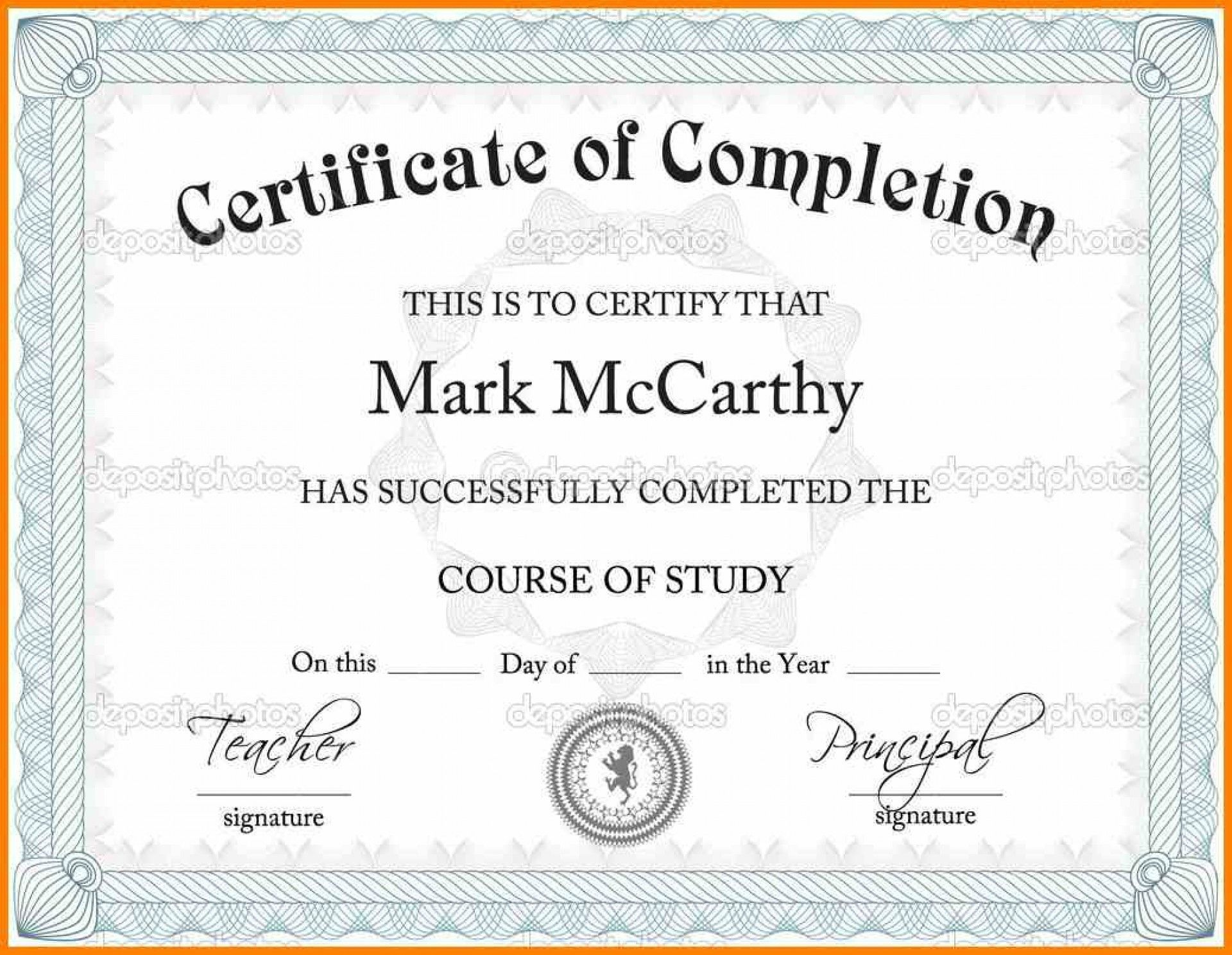 Ms Word Certificate Template Free Download from i.pinimg.com