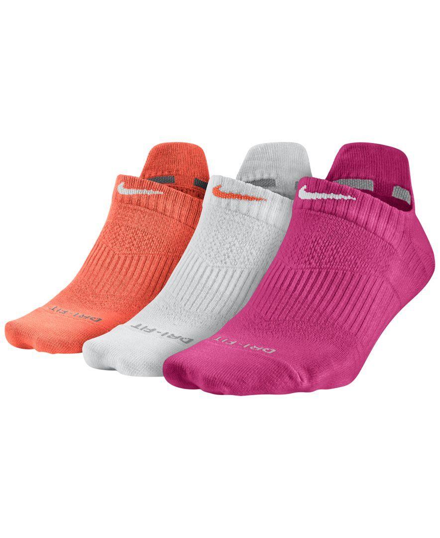Nike Women S Dri Fit Half Cushion No Show Socks 3 Pack Nike Crew