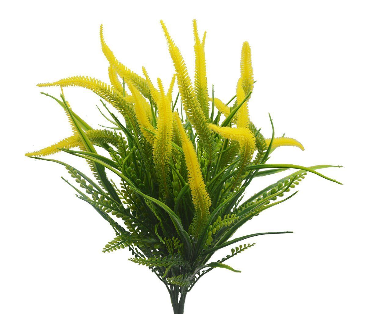 Wedding decorations outside house  Artificial Plants Flowers pcs Faux Plastic Setaria Shrubs
