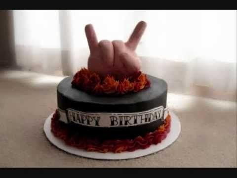 Metal Birthday Song Happy Birthday Song Metal Version Cake Birthday Cute Cakes