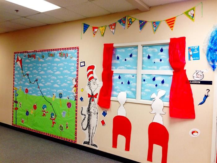"Dr Seuss Wall Decor soaring to great things!"" dr. seuss decor for b2s 