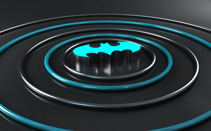 Download wallpapers Batman, superheroes, 3d logo, art | 3D ... Бэтмен Против Супермена Обои