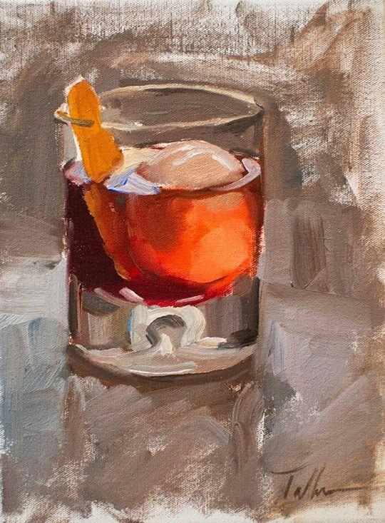 Gastronomista Matt Talbert The Cocktail Painter Cocktail Art Oil Painting Inspiration Wine Painting