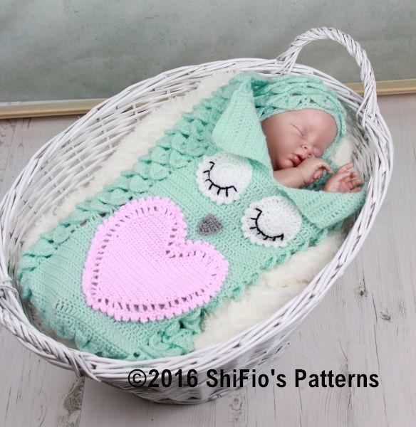Croc St Owl Cocoon Crochet Pattern 341