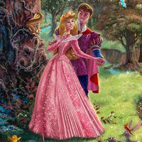 Disney Princesses - Thomas Kinkade: Sleeping Beauty and The Lion King