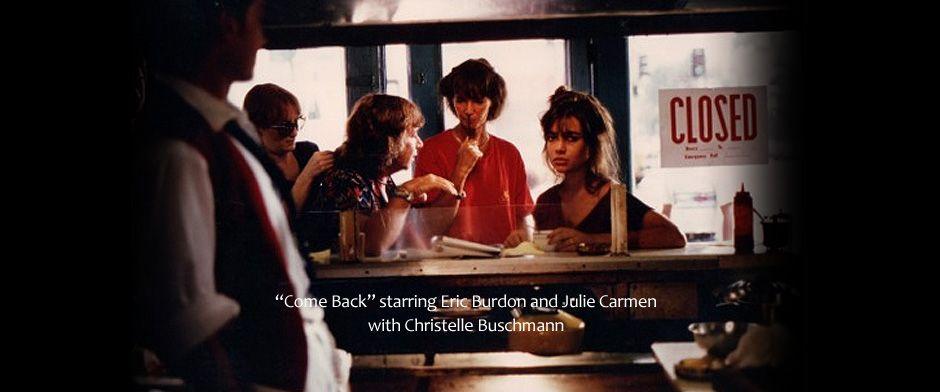Eric Burdon stars in COMEBACK opposite Julie Carmen. German director Christelle Buschmann wrote and directed for #Filmverlag der Autoren, shot in #Berlin and #Hollywood. #EricBurdon #rock #cult #classic #GermanCinema