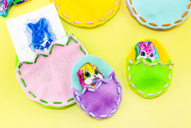 DIY Easter Egg Treat Pouches!