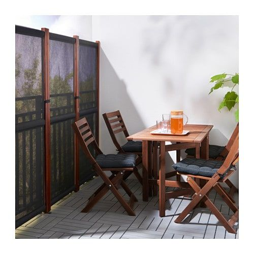 SLÄTTÖ Privacy screen, outdoor, black, brown stained - IKEA