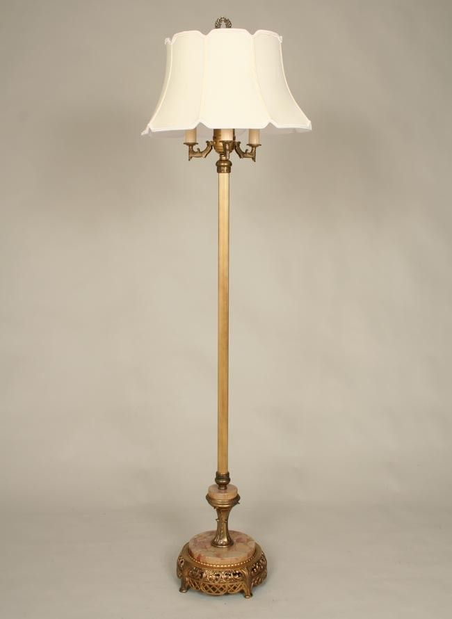 193039s 194039s floor lamp old floor lamps pinterest for Antique floor lamp with nightlight in base