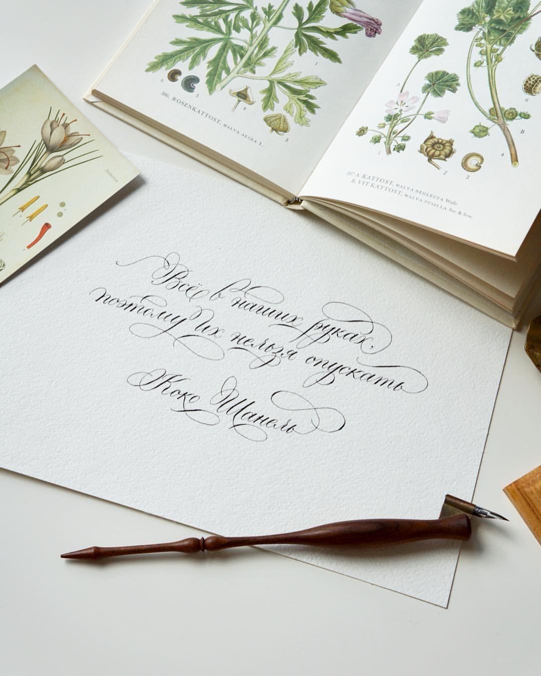 Где девочка, каллиграфия подписать открытку