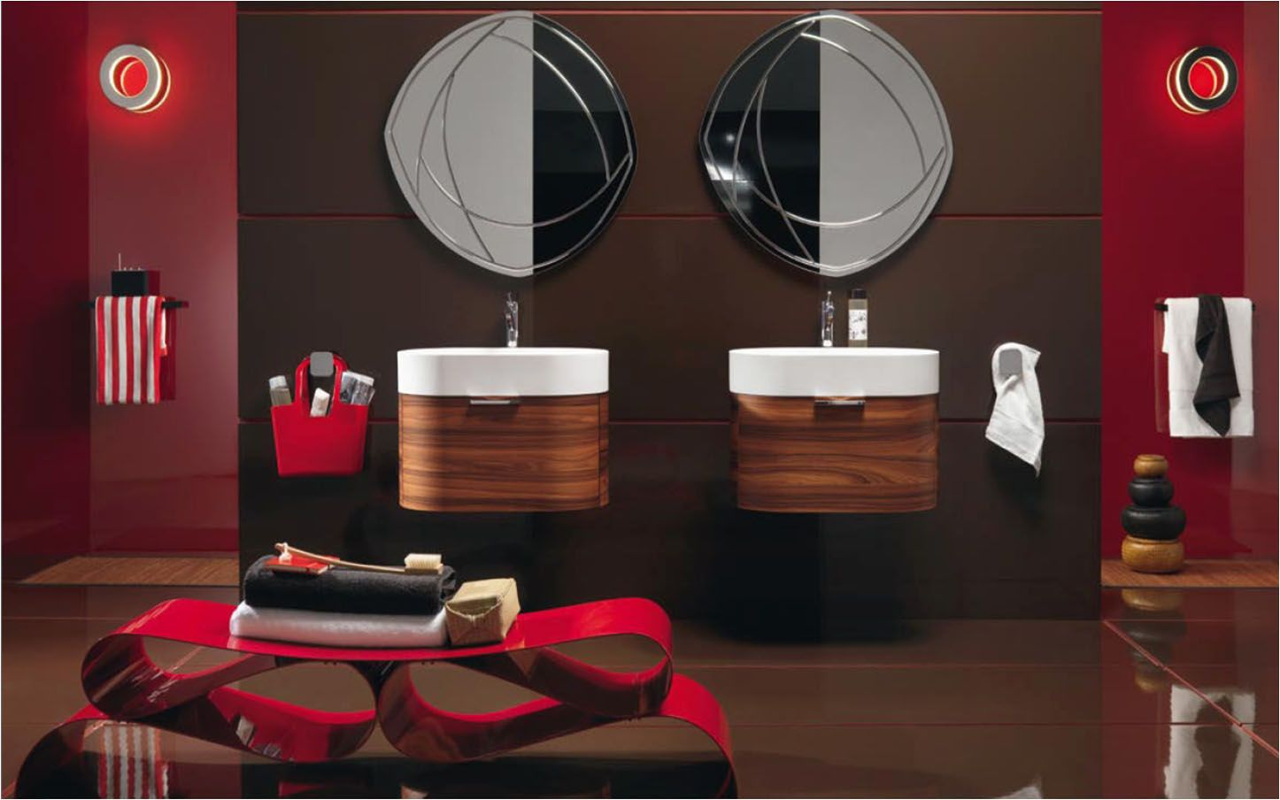 Incroyable Black And Red Room Decor Ideas | Red And Black Bathroom Decorating Ideas4