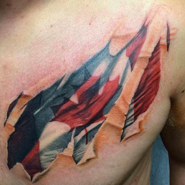0d6aa6a46ec 18 Patriotic Canadian Flag Tattoos